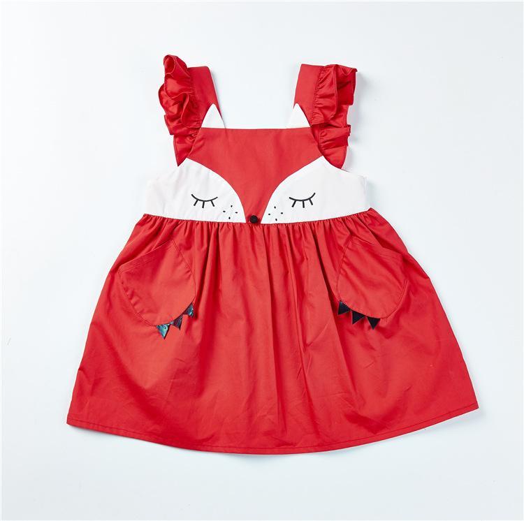 075dae0df277 2019 Kids Girl Designer Clothes Dress Summer Cute Fox Suspender Design  Lolita Dress Princess Girl Clothing Dress From Paco_cha, $9.32 | DHgate.Com