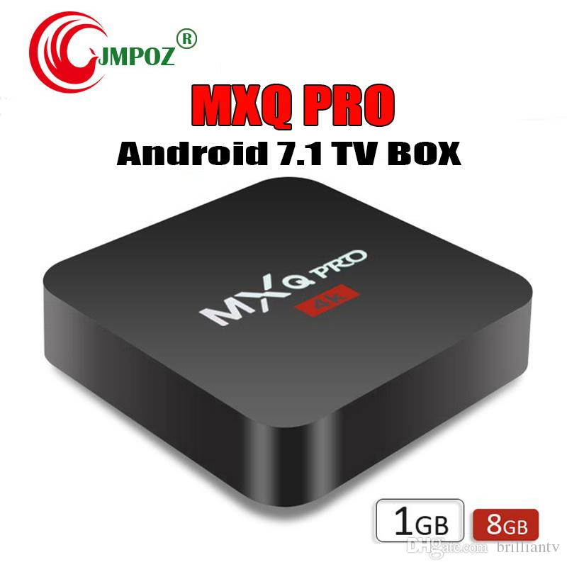Factory MXQ Pro 4K Android 7.1 TV Box Rockchip RK3229 Quad Core 1GB 8GB Smart Streaming Media Player support 3D IPTV HDMI Set Top Box