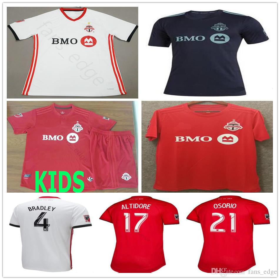 d8fc52a64 2019 2019 2020 Parley Toronto FC Soccer Jerseys 4 BRADLEY 10 GIOVINCO 17  ALTIDORE OSORIO Custom Home Away Red White Adult Kids Football Shirt From  Fans edge ...