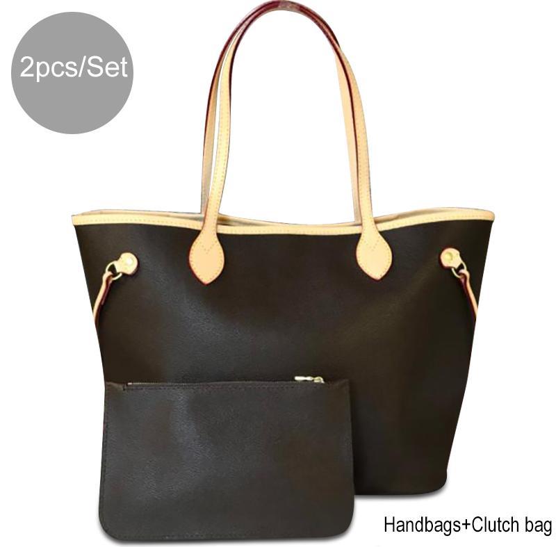 c8cfa8342a1 2 pcs/set Women Purses and Handbags Ladies Designer Satchel Handbag Tote  Bag Shoulder Bags with coin purse designer handbags with Box