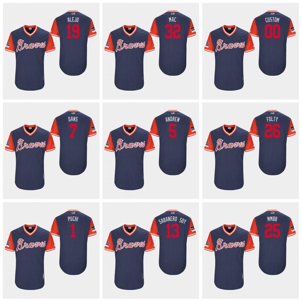 the latest e3bf5 d76e5 2019 Braves Players Weekend Jersey Ronald Acuna Jr. Ozzie Albies Atlanta  Freddie Freeman Dansby Swanson Soroka Ender Inciarte Chipper Jones