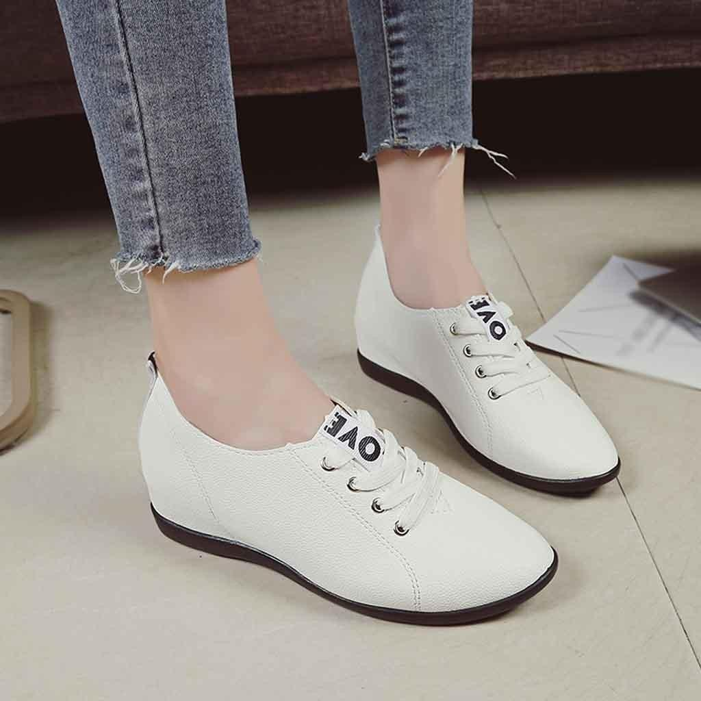 c07c9f0fc65f Designer Dress Shoes Muqgew White Solid Fashion Women Casual Increase  Within Shallow Work Student White Newest Simple Style #1206 Summer Shoes  Womens ...