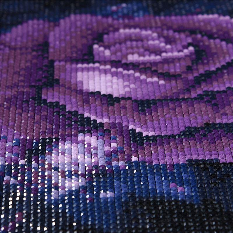5D fai da te diamante ricamo viola rosa pittura diamante fiore viola quadrato pieno di cristallo strass home decor nessuna cornice 25 * 25 cm