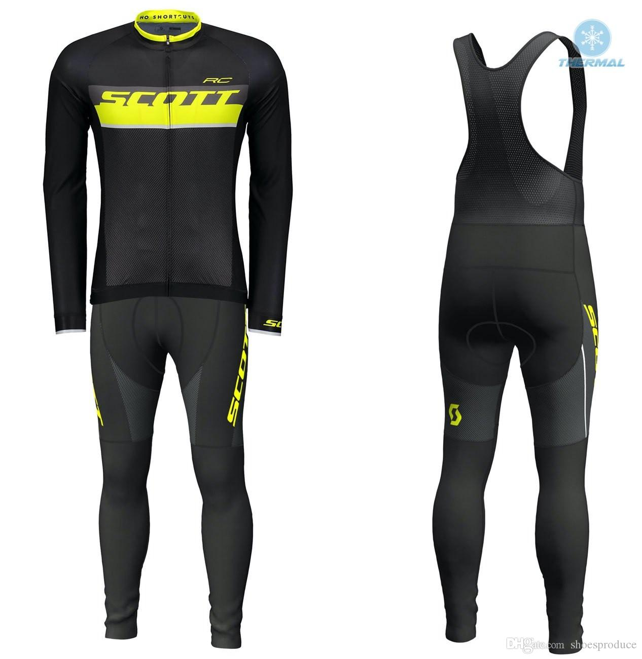 Winter Thermal Fleece Scott RC Long Sleeve Cycling Jersey Bib Pants Bike  Clothing MTB Bicycle Clothes Wear Ropa Maillot Ciclismo 9D Pad Womens  Cycling ... 3e8dc68fa