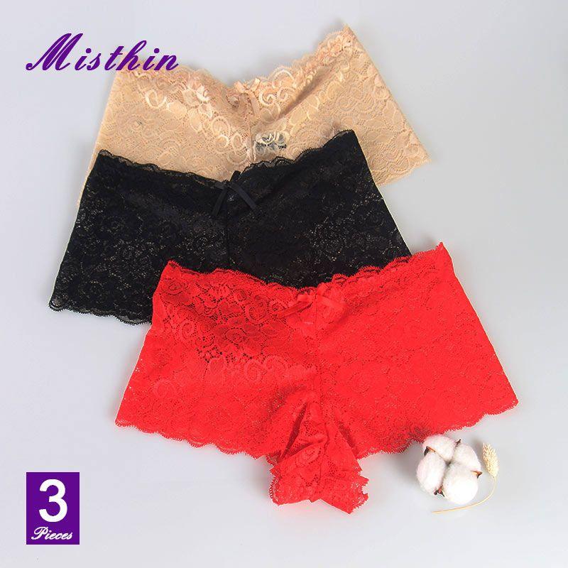 f27b0492b63 MISTHIN Sexy Lace Panties Seamless Women Underwear Briefs For Ladies Bikini  Cotton Transparent Lingerie 4XL Plus Size P0045 UK 2019 From Alfreld