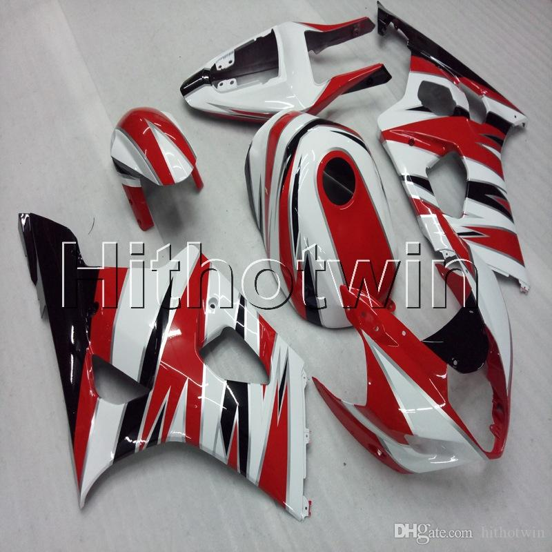 23colors+Gifts Injection mold red white Motorcycle cowl ABS Fairing For Kawasaki ZX-6R 2003 2004 ZX6R ZX636 03-04