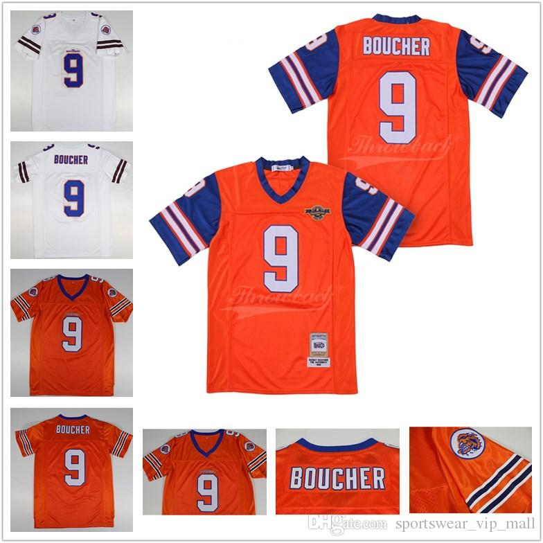 fec5dae5d36 2019 Bobby Boucher #9 The Waterboy Adam Sandler Mud Dogs Movie Football  Jersey With Bourbon Bowl Patch Orange Stiched Name & Number & Logos From ...