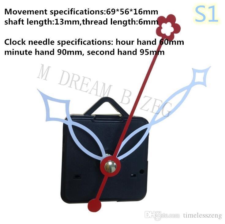 Mecanismo de reloj DIY Reloj de cuarzo Movimiento Kit mecánico Mecanismo de husillo Reparación con juegos de mano Accesorios de reloj de movimiento de punto de cruz