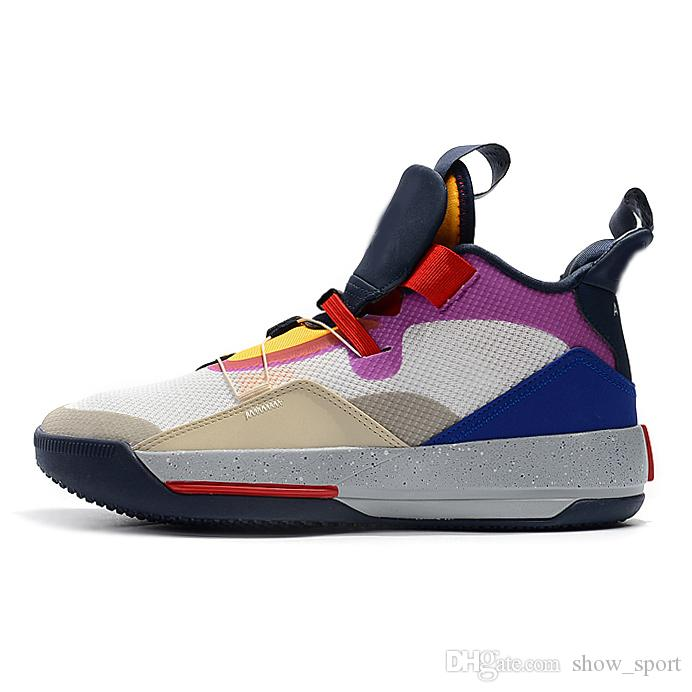 a52441ac559577 2019 2019 New Jumpman XXXIII 33 Mens Basketball Shoes For Cheap High  Quality 33s Multicolors Tech Pack Guo Ailun Trainers Sneakers Size 40 46  From ...