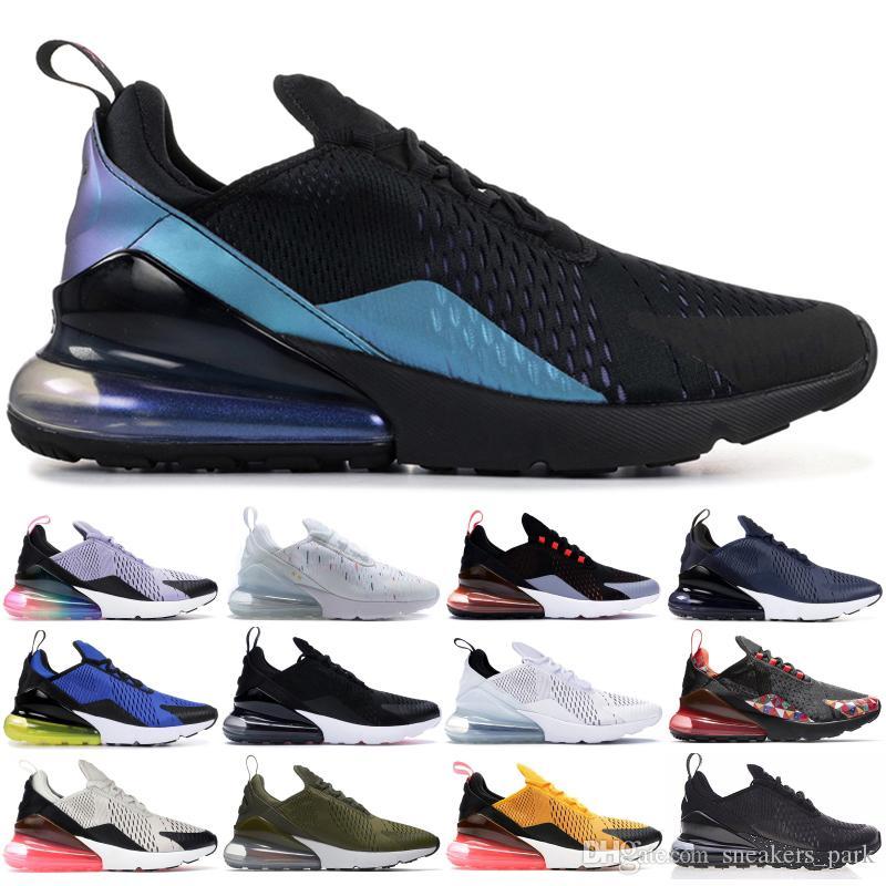 sale retailer 49ea7 89731 Acheter Nike Air Max 270 Être Vrai Throwback Future Noir Blanc Hommes  Femmes Chaussures De Course Français Éclaboussures D'encre Designer De Mode  Hommes ...