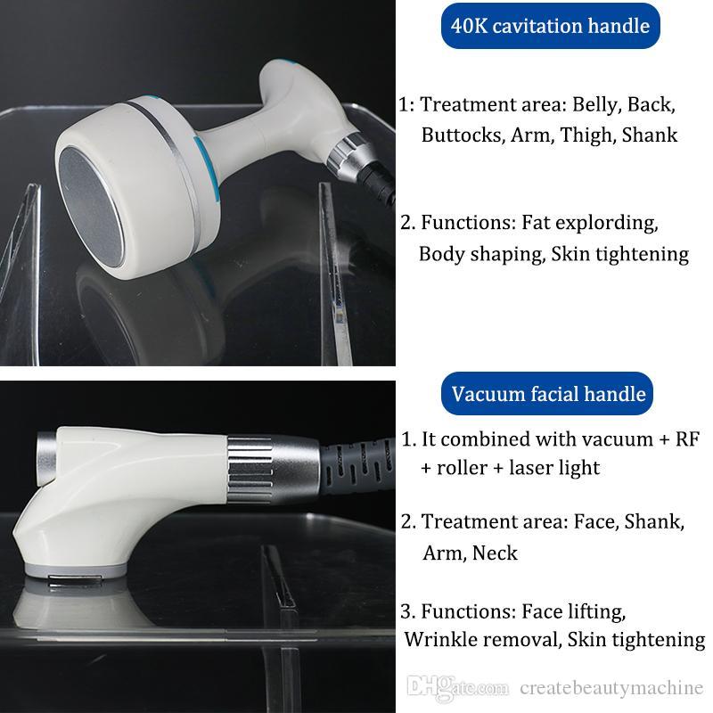 Fettes Einfrieren der Velashape-Maschine Tragbares Infrarotmassagegesichtsrollensystem Ultraschall-Rf-Haut ziehen Kavitationsvakuumtherapiemaschine fest