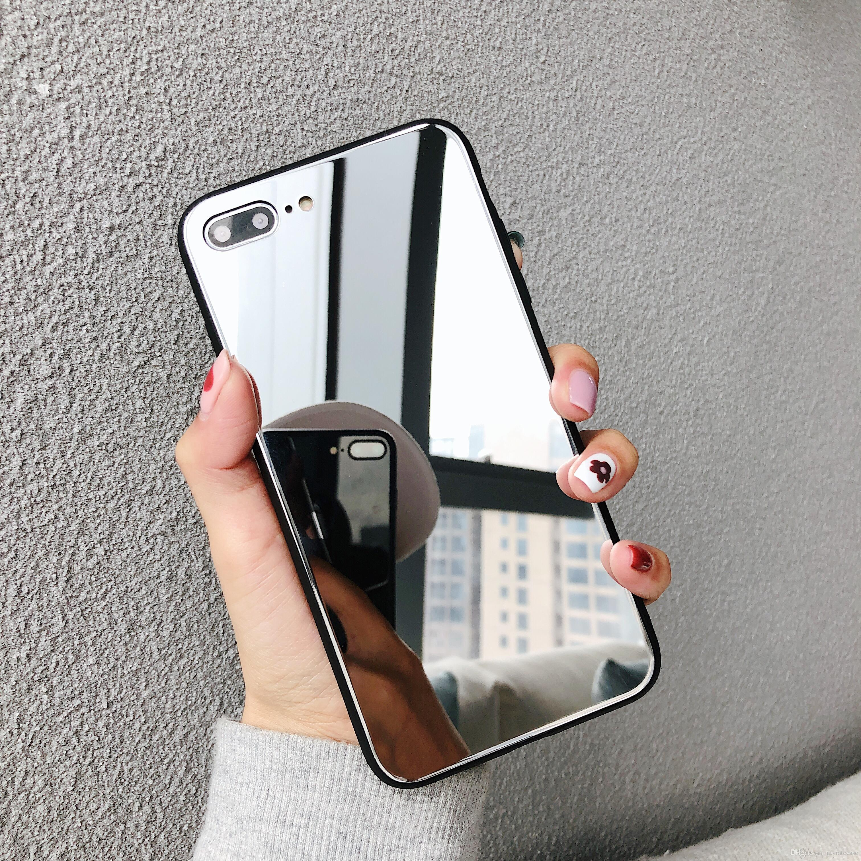 975bcd74b33 Fundas Para El Celular Estuche Rígido Slim Mirror Para IPhone XS Max XR XS  X 8 8 Plus 7 7 Plus 6 6S 6 Plus Forros Para Telefonos Por Ufyratecase, ...
