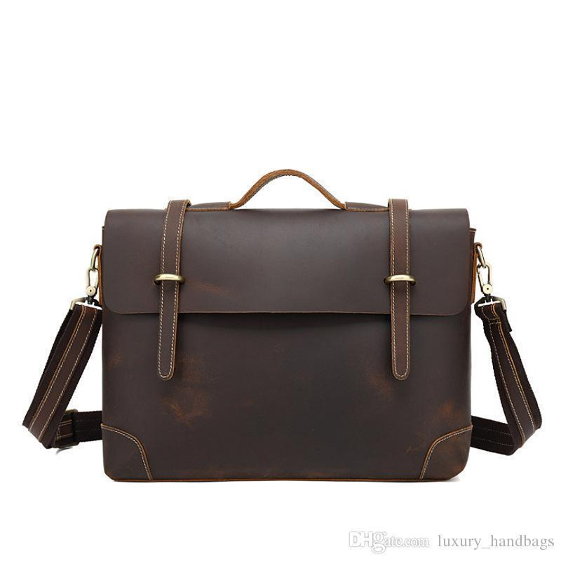 Men's Briefcase Bag Cowhide Leather Backpack More Pocket Top Quality Purse Designer Handbags Portable Genuine Leather Travel Bags