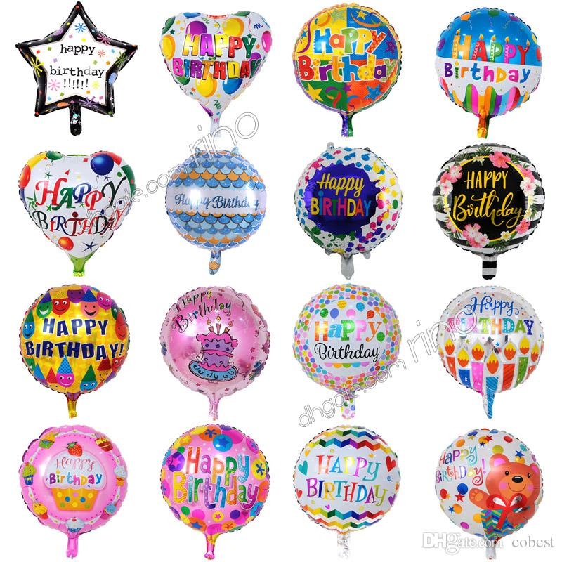 18 Inch inflatable birthday party ballons decorations bubble helium foil balloon kids happy birthday balloons toys