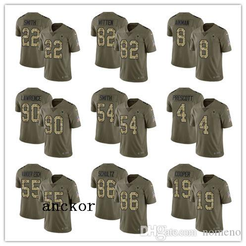 69e1a8bc13d 2019 Dallas MEN WOMEN YOUTH 21 Ezekiel Elliott 4 Dak Prescott Limited Jersey  Football Cowboys Olive Camo 2017 Salute To Service From Faded_jersey, ...
