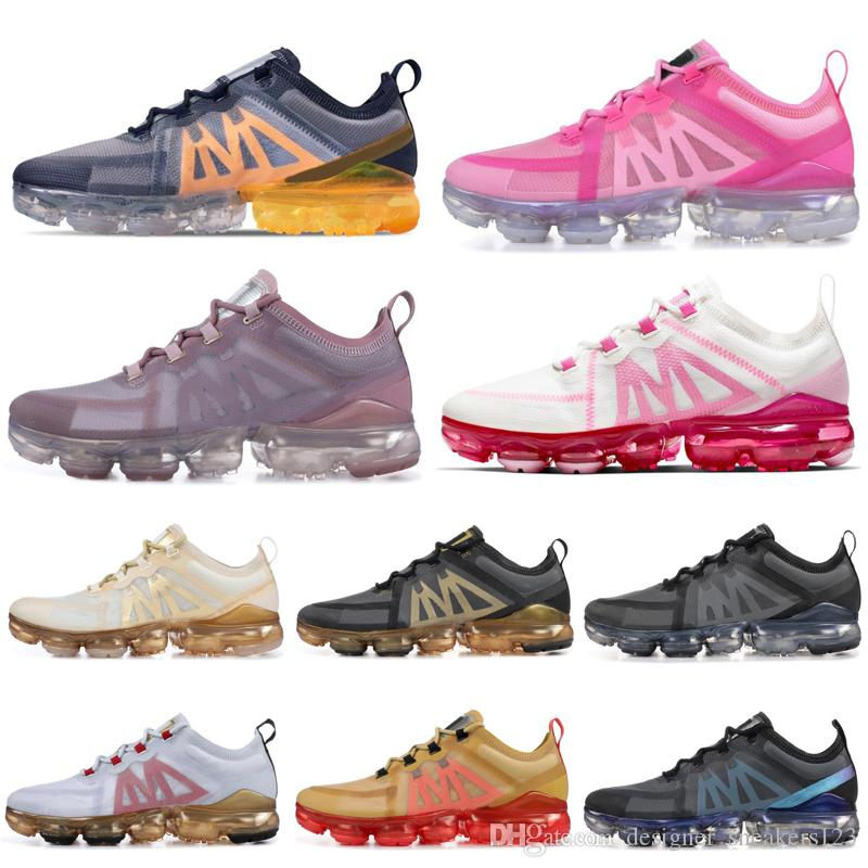 Cheap Mens Running Shoes for Men Women Psychic Pink Metallic BLACK Crimson GOLD CNY Laser Fuchsia OREGON Mens Trainer Sport Sneakers 36-45