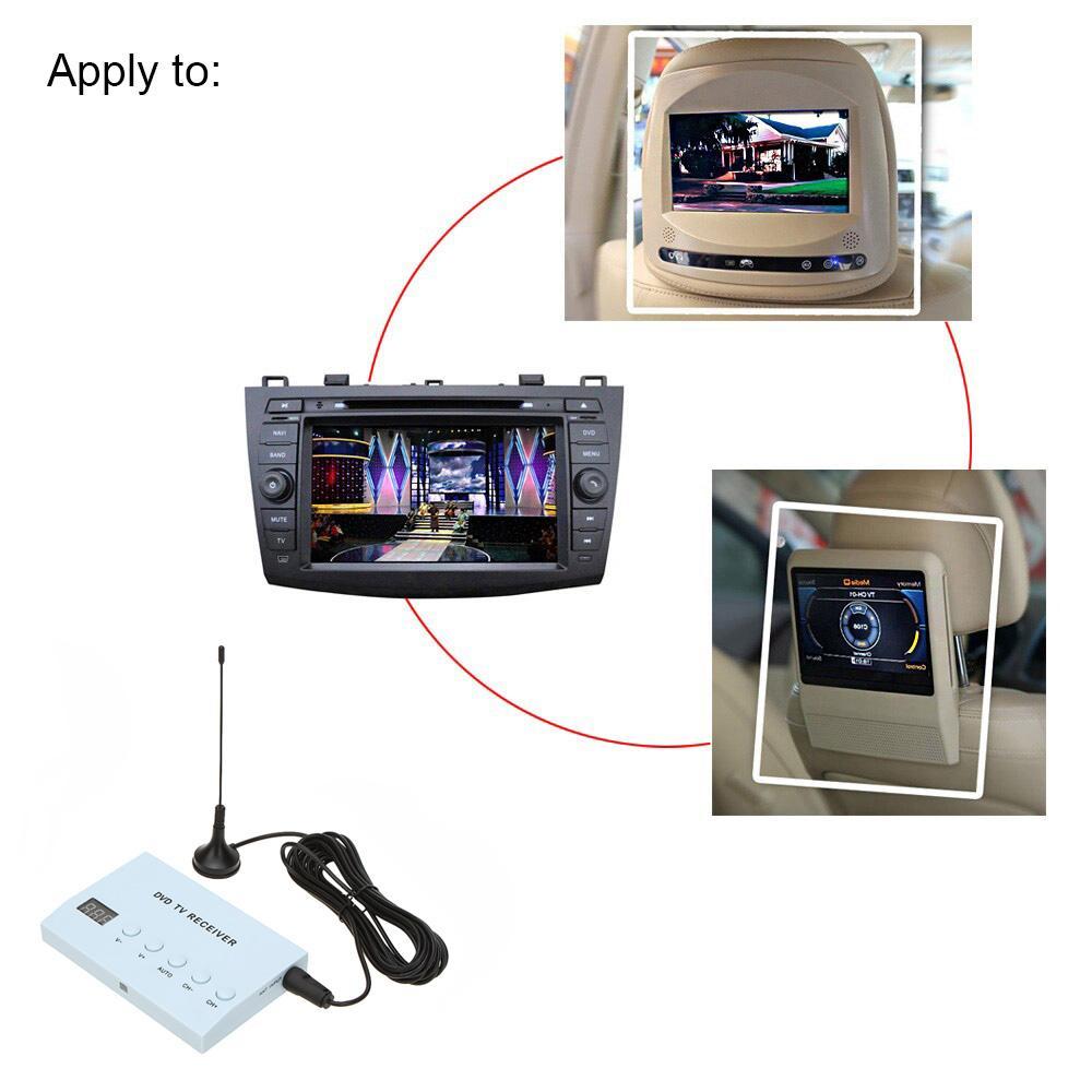 Caja fuerte de la señal fuerte del sintonizador de la TV analógica del receptor de la TV del DVD del coche de con la antena
