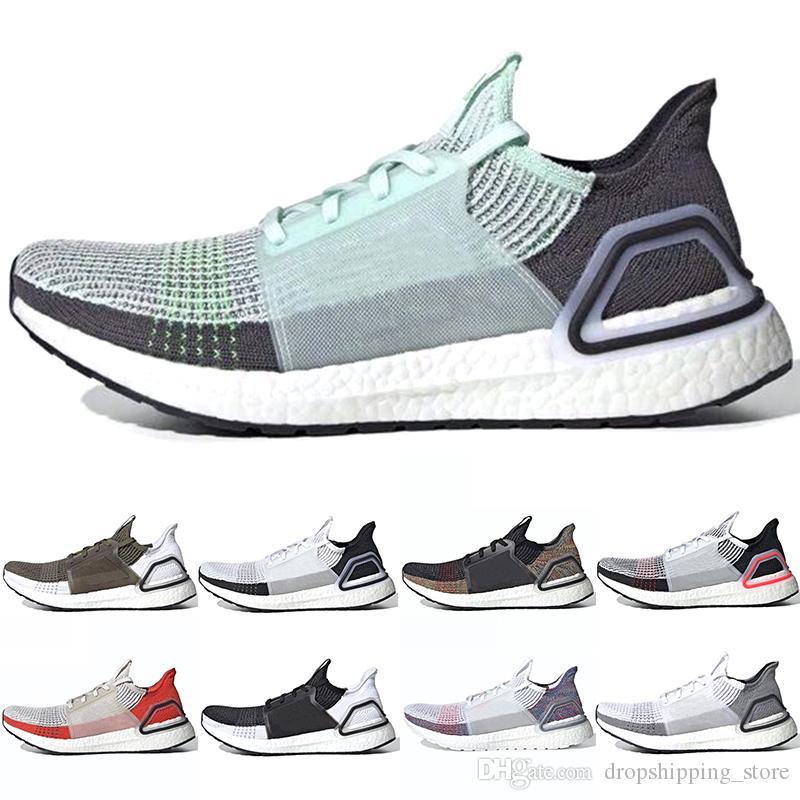Adidas 2019 Ultra Boost 19 Männer Frauen Laufschuhe Ultraboost Laser Roter Oreo Core Schwarz Dunkle Pixel Refraktion Beste Neue Sport Sneaker Größe