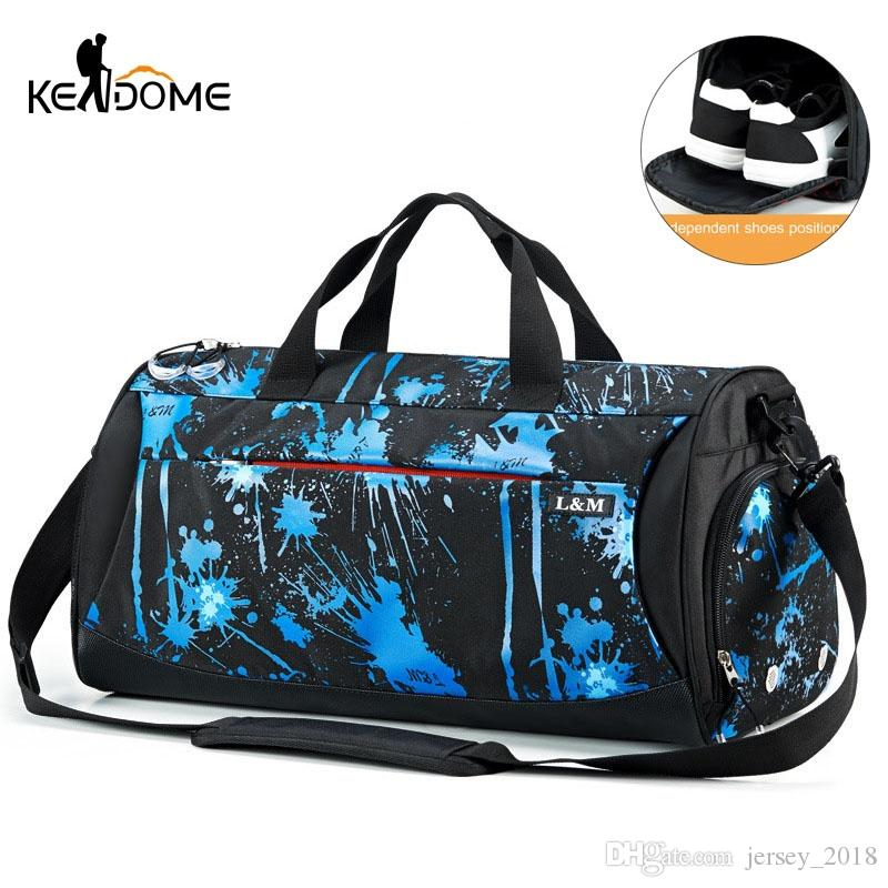 76dfbfce40dd 2019 Male Sports Gym Bag For Shoes Women Shoulder Training Travel Bags Dry  Wet Separation Yoga Swimming Bag Tas Sac De Sport XA539WD  350785 From ...