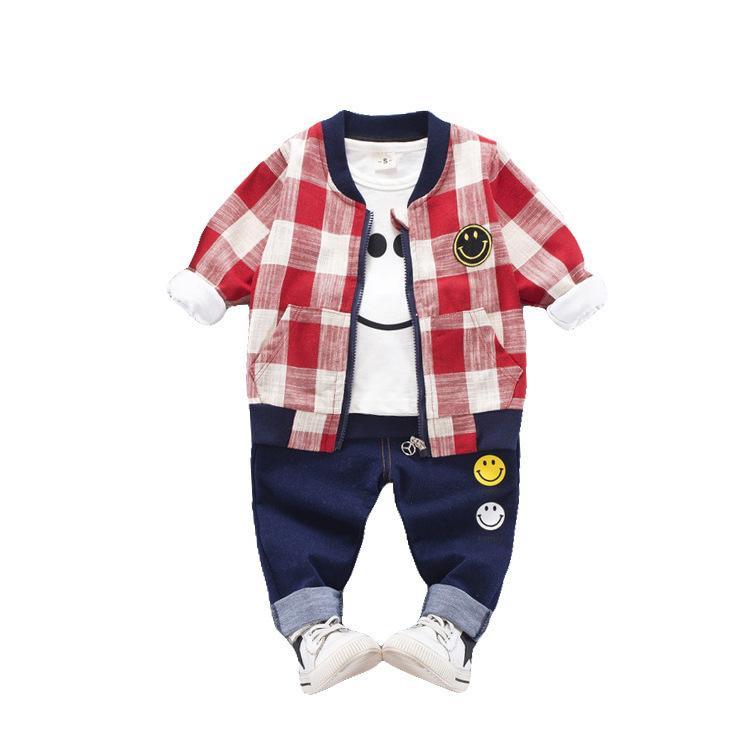 30890e2e8 2019 Spring Autumn Children Boys Girls Cotton Clothes Baby Smiley ...
