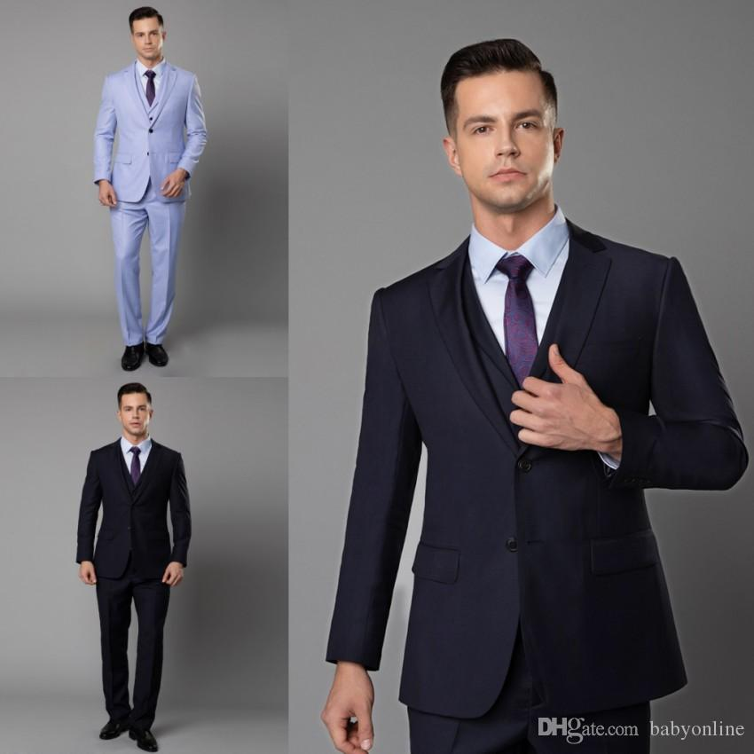 2798cd1fe63578 2019 High Quality 2019 Newest Mens Blazer Suits Three Pieces Notch Lapel  Wedding Tuxedos Suits Formal Wear Best Mens Bridegroom Mens Suits From  Babyonline, ...