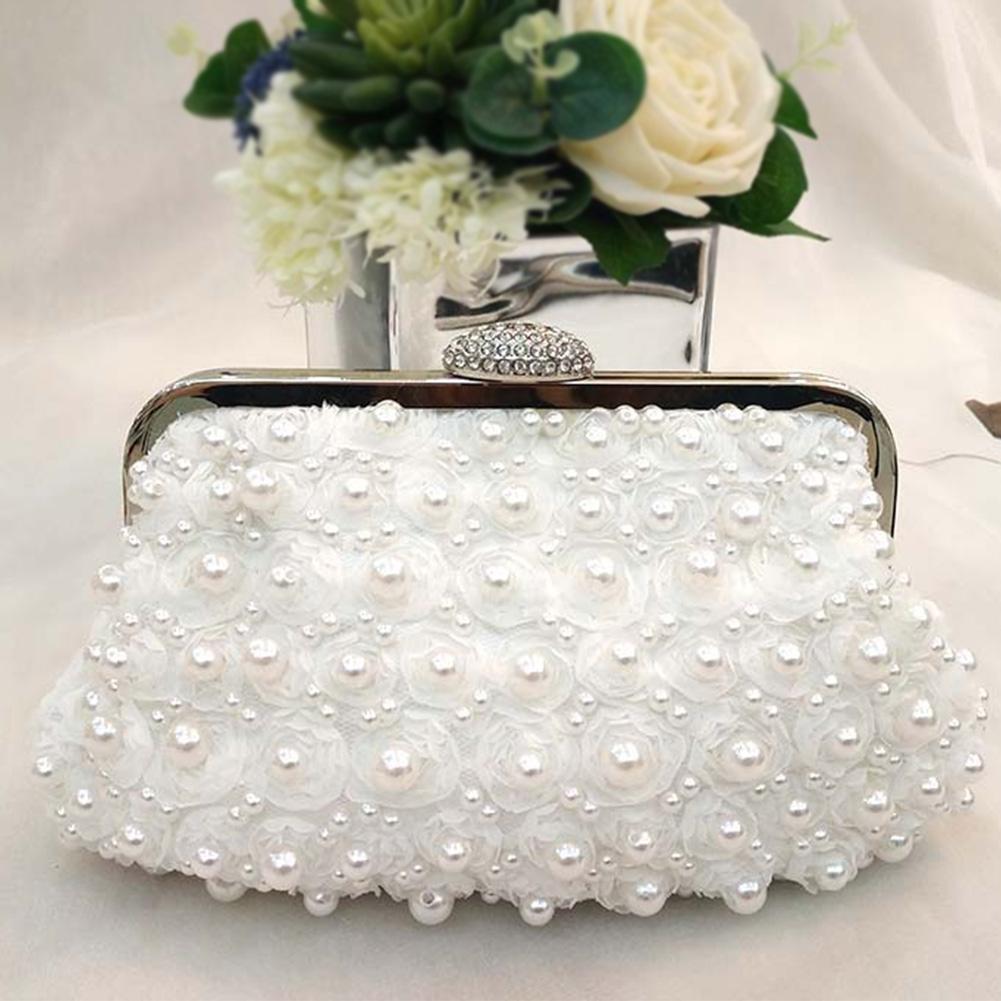 b223bafee9edf Satın Al Kadın Bayan Çanta Çanta Yapay Inci Debriyaj Çanta Lüks Akşam Parti  Dantel Çiçek Moda Boncuklu Zarif Düğün Çile, $23.59 | DHgate.Com'da