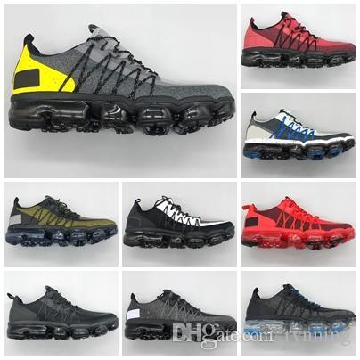 Acheter Nike Air Max Vapormax 2019 Run Utility Men Casual Chaussures Meilleure Qualité Noir Anthracite Métal Blanc Reflètent Argent Remise Chaussures
