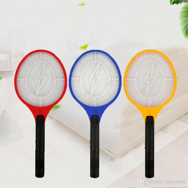 Rechargeable LED Insect Net Killer Electric Mosquito Swatter Home Garden  Pest Bug Zapper Hand Racket Killer 2 Pieces ePacket