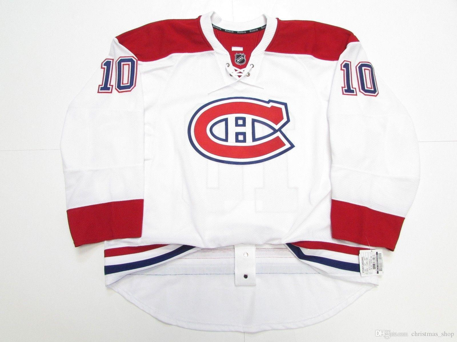 Cheap custom MONTREAL CANADIENS AWAY TEAM ISSUED JERSEY stitch add any number any name Mens Hockey Jersey XS-5XL