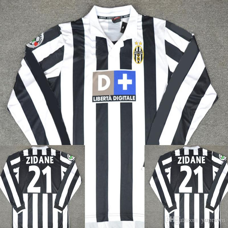 38e716d9c 2019 99 00 Juventus Retro Soccer Jersey Conte Inzaghi Del Piero Zidane  Davids 1999 2000 Juve Football Shirts Vintage Camiseta Maillot De Foot From  Yuprawn