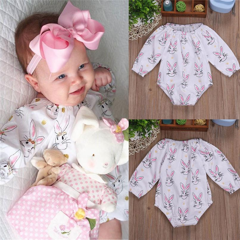 4c2be73678d2e 2019 Summer Babys Girls Outfits Romper Infant Baby Girls Cartoon Easter Rabbit  Print Long Sleeve Romper Jumpsuit Outfits A84L30 From Nextbest01, ...