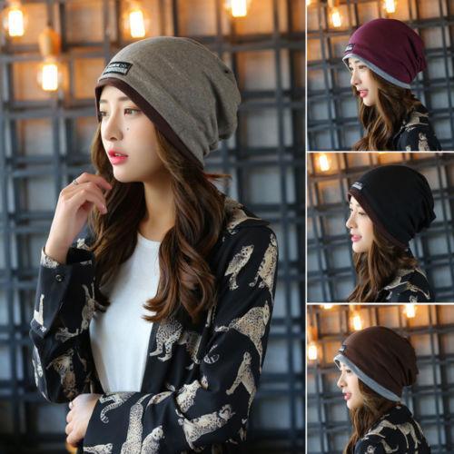5a7cb2eb750 Men Women Unisex Cotton Hip Hop Slouchy Hats Casual Ski Winter Warm Cap  Baggy Beanie Hat Lady