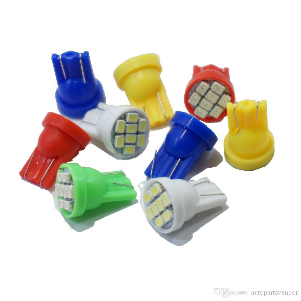 2x T10 904 8 SMD 1206 LEDs Car Side Wedge Lamp Light Bulb