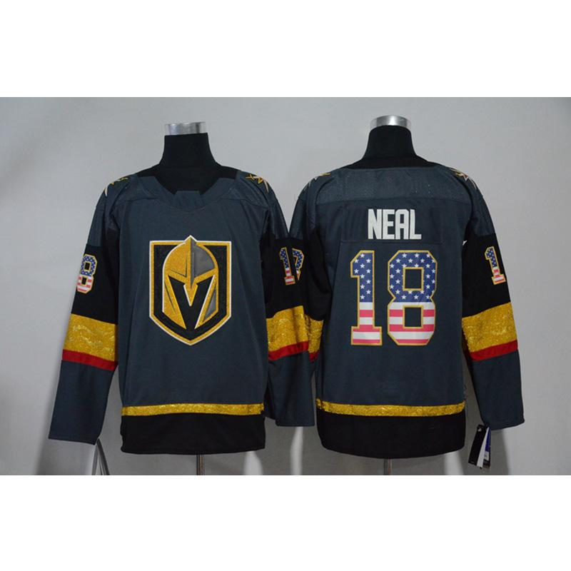 new arrival 733eb 56a3f Mens Vegas Golden Knights James Neal Home Away Gray White Hockey Jersey All  Player In