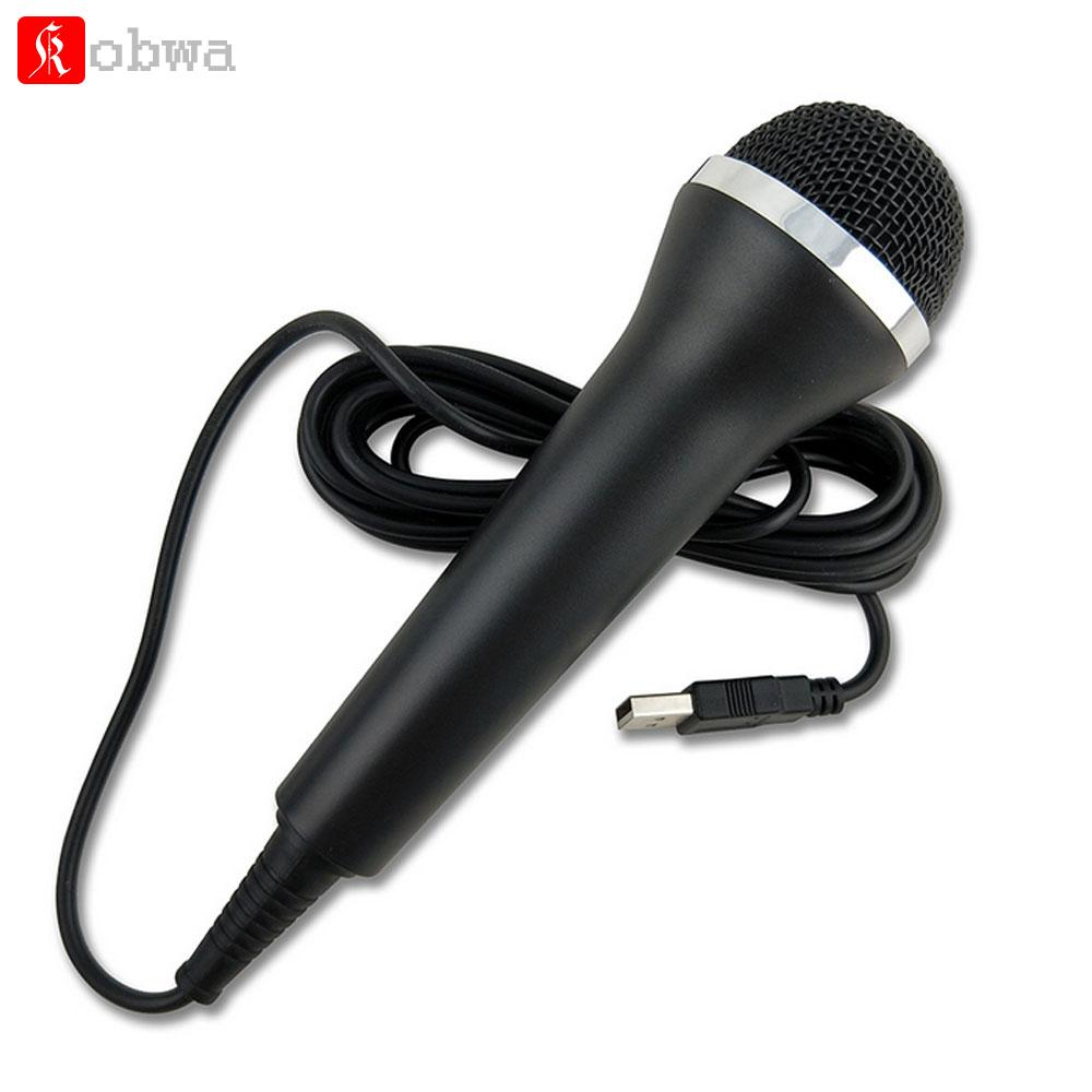 Portable USB Wired Microphone for PS4 For PS3 Xbox 360 Slim Wii PC Handheld  mini Game Mic Xbox One
