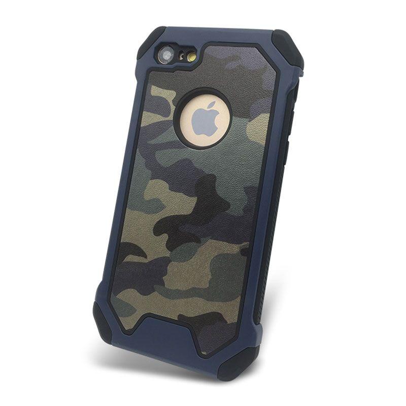 ba403699b41 Personaliza Tu Carcasa Camuflaje Caja Del Teléfono Celular Antichoque Para  Iphone 7 8 Plus X XR XS Max PC + TPU Teléfono Móvil Shell Protector Con El  ...
