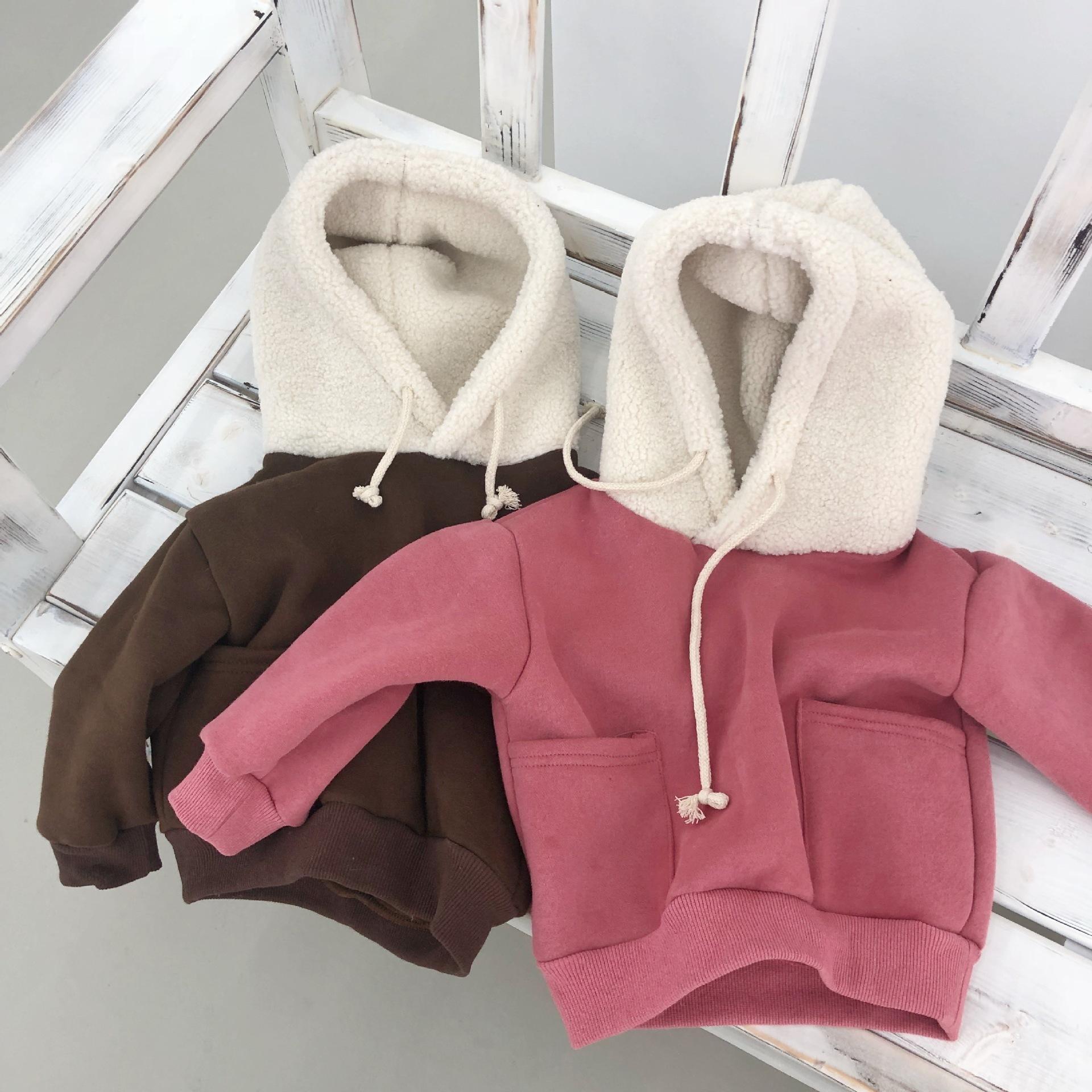 32d4c74ff 2019 recién llegado de bebés niñas sudadera invierno otoño niño con capucha  polar cálido mangas largas suéter niños camiseta ropa para 1-5Y