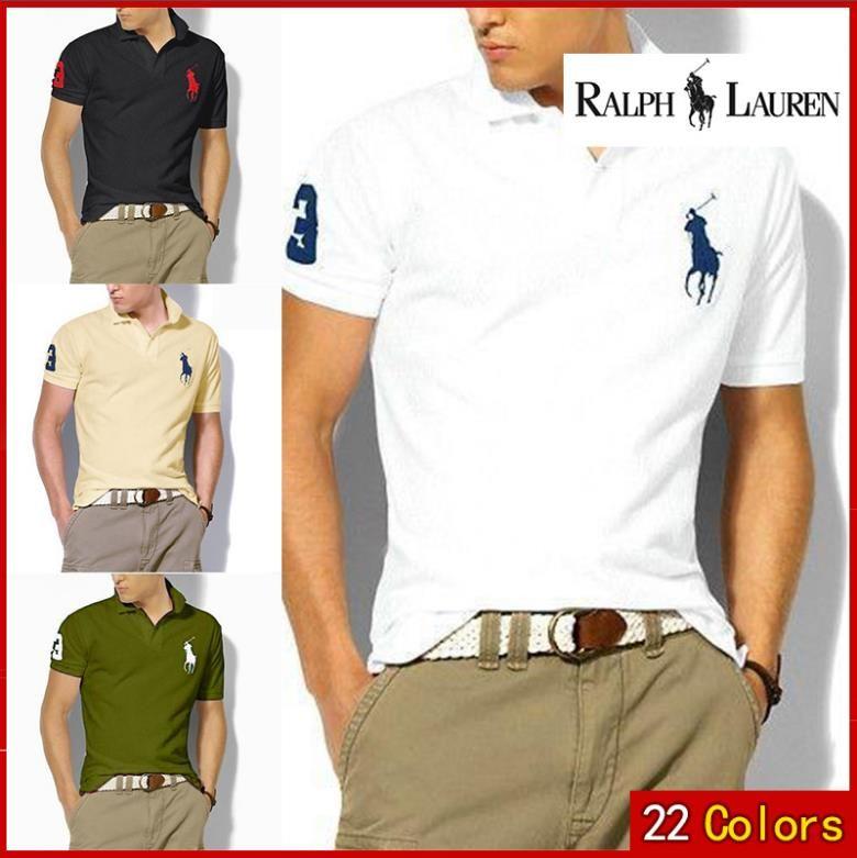 971021813a3 Ralph Lauren New Brand Embroidery Polo Shirt Men Solid Colors Fashion  Collar Design Polo Homme Summer Short-sleeve Polos Para Hombre Polo Shirt  Short-sleeve ...