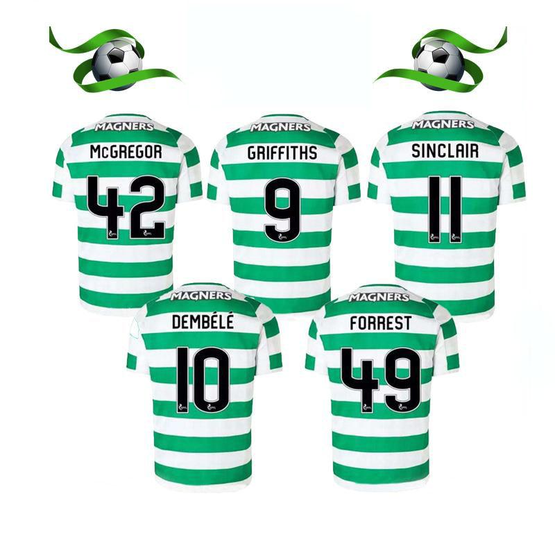 e34f0d864 2019 18 19 Home Soccer Jersey Away Short Sleeve Soccer Jersey Celtic  Griffiths Dembele Sinclair Rogic McGregor Roberts Forrest Football Shirt  Uni From Teely ...