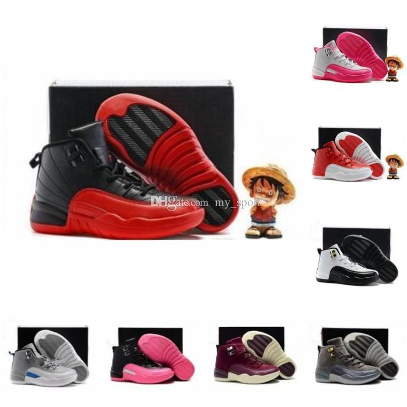 sale retailer 7a83a 26d20 Shoes 12 Kids Children Basketball Shoes Boy Girl Gym Red 12s Ovo French  Blue The Master Taxi Playoff Sports Shoes Toddlers Birthday Gift