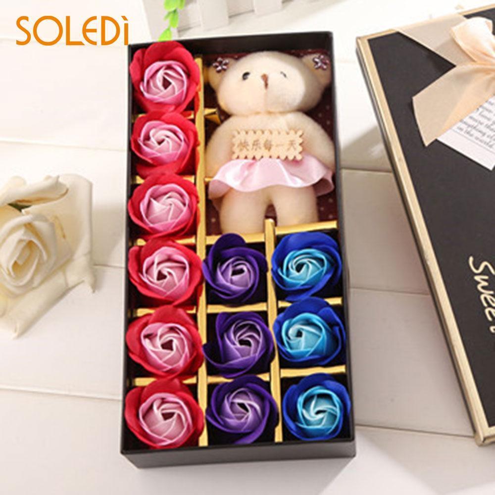 Acheter Savon Fleur Cadeau De Saint Valentin En Boite Savon Rose