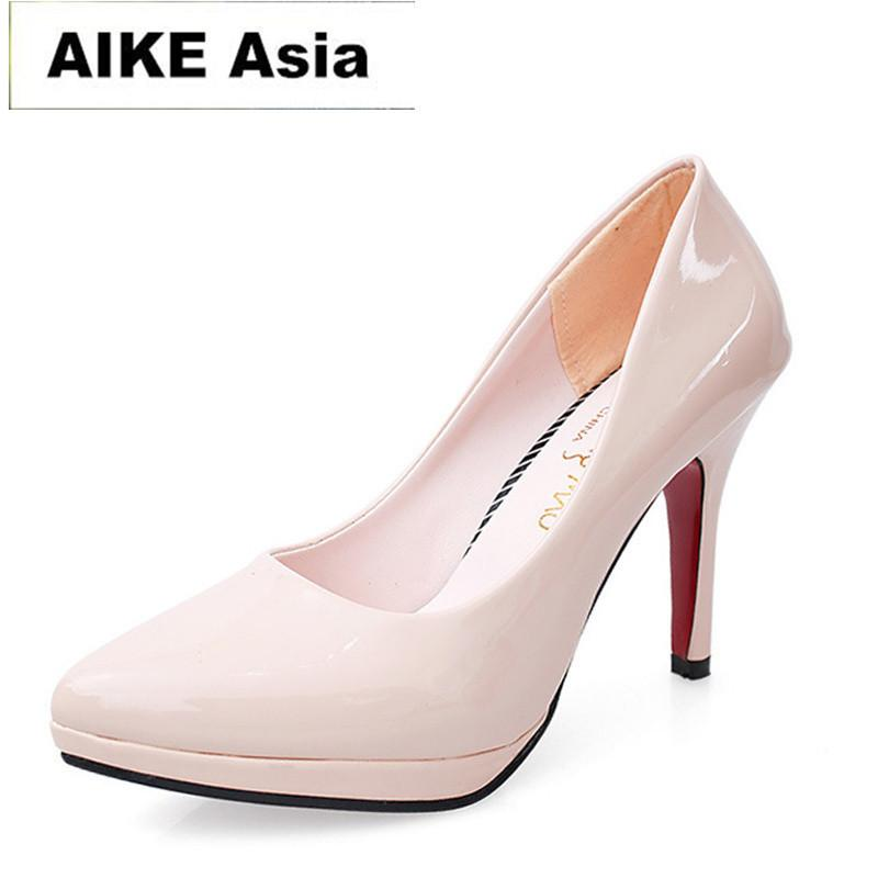 3ab506609b Compre Aike Ásia 2019 Bombas Mulheres Sexy Extremamente Sapatos De Salto  Alto Nupcial Stiletto Senhoras Vermelhas Sapatos De Festa De Casamento 10  Cm   811 ...