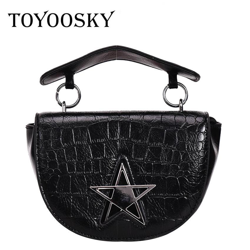 d1591d1abd86 TOYOOSKY New Vintage Alligator Saddle Bag Women Handbag Fashion ...