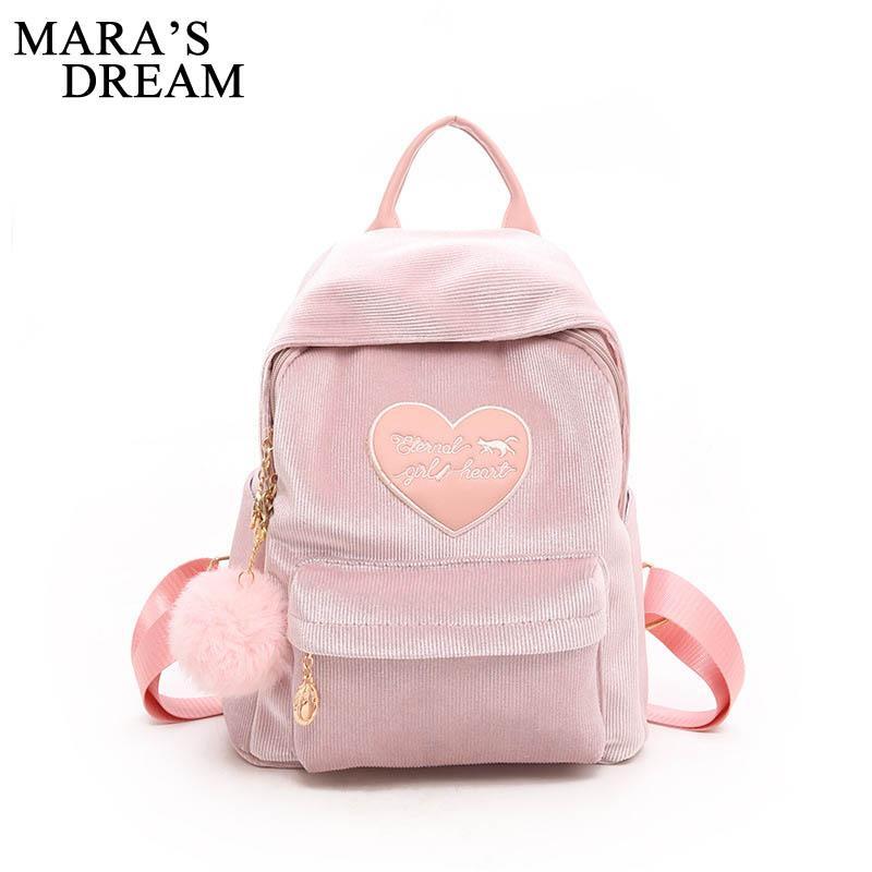 Mara S Dream Velour Women Backpack Female Cute Big Backpacks High Quality  School Bag Teenage Small Back Pack Bag Korean Backpack Dog Backpack  Backpacks For ... f7d09c8403f0