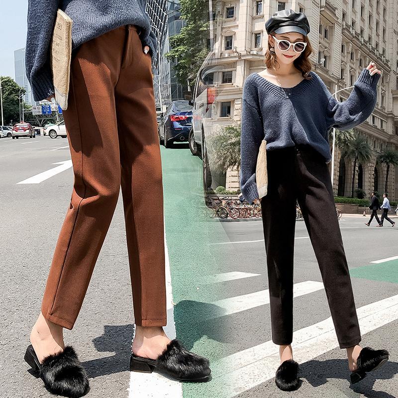 Pantaloni autunno inverno nuove donne pantaloni a vita bassa femminile Plus Size Pantaloni neri pantaloni antracite Autunno Inverno pantaloni in
