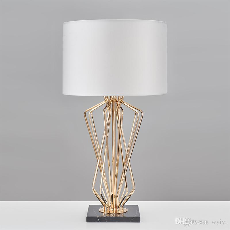 Modern Table Lamp for Living Room Bedroom Contemporary Desk light Bedside  Lamp Metal Plating Table Design Home Decoration