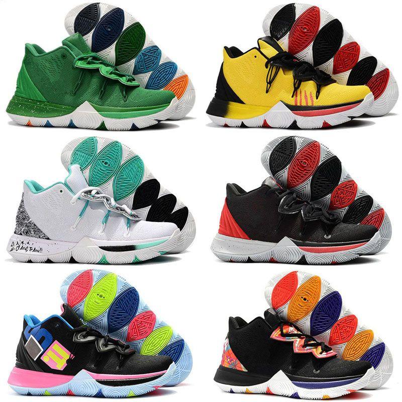 9c82669bae28 Irving 2019 Limited 5 Men Kids Basketball Shoes 5s Black Magic For ...
