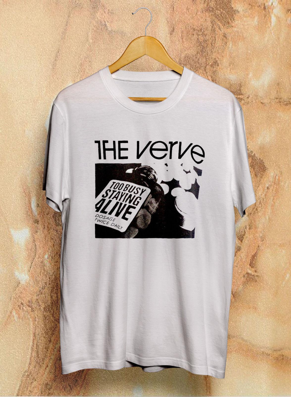 367fe19f170 New Vintage The Verve Too busy staying alive T Shirt 90s Rare Reprint S -  XXL Brand shirts jeans Print