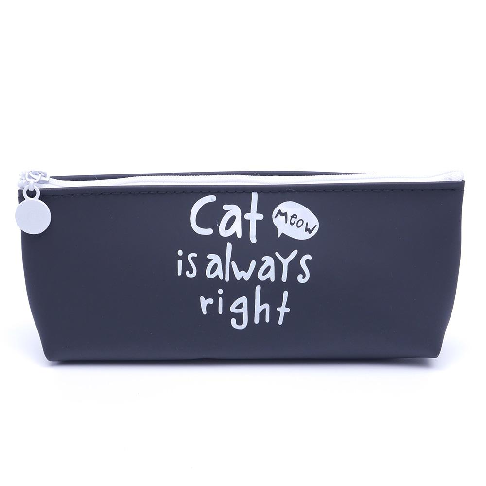 Kawaii Cute Animal Cat Cosmetic Case Bag Silicone Makeup Pouch Toiletry bag Wash Kit 4 Styles
