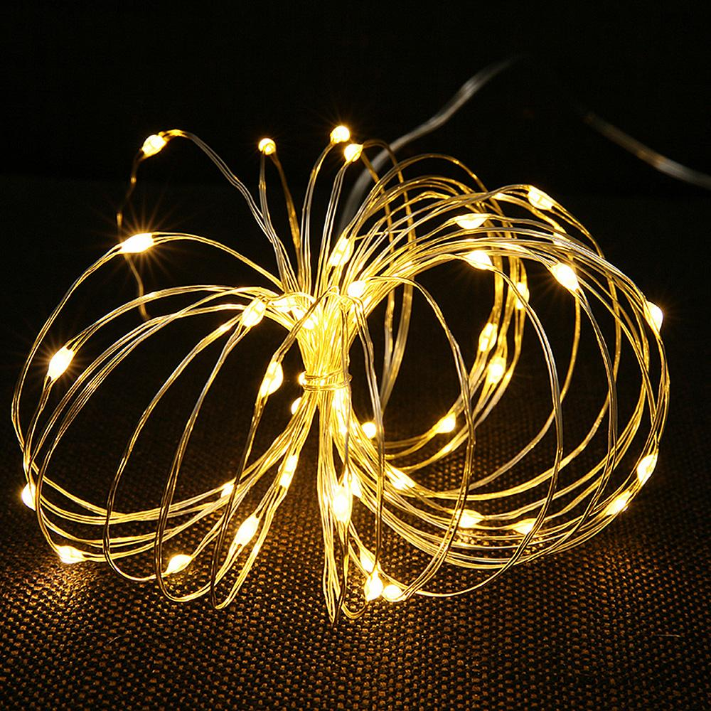 2M Garland Decorative Light Copper Wire Battery Operated Christmas Wedding Party Decoration LED String Fairy Lights 7Z MM257